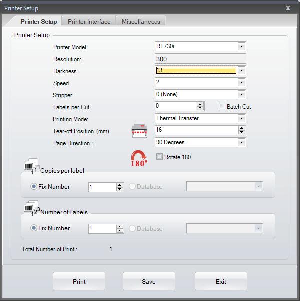 Go Label printer setup