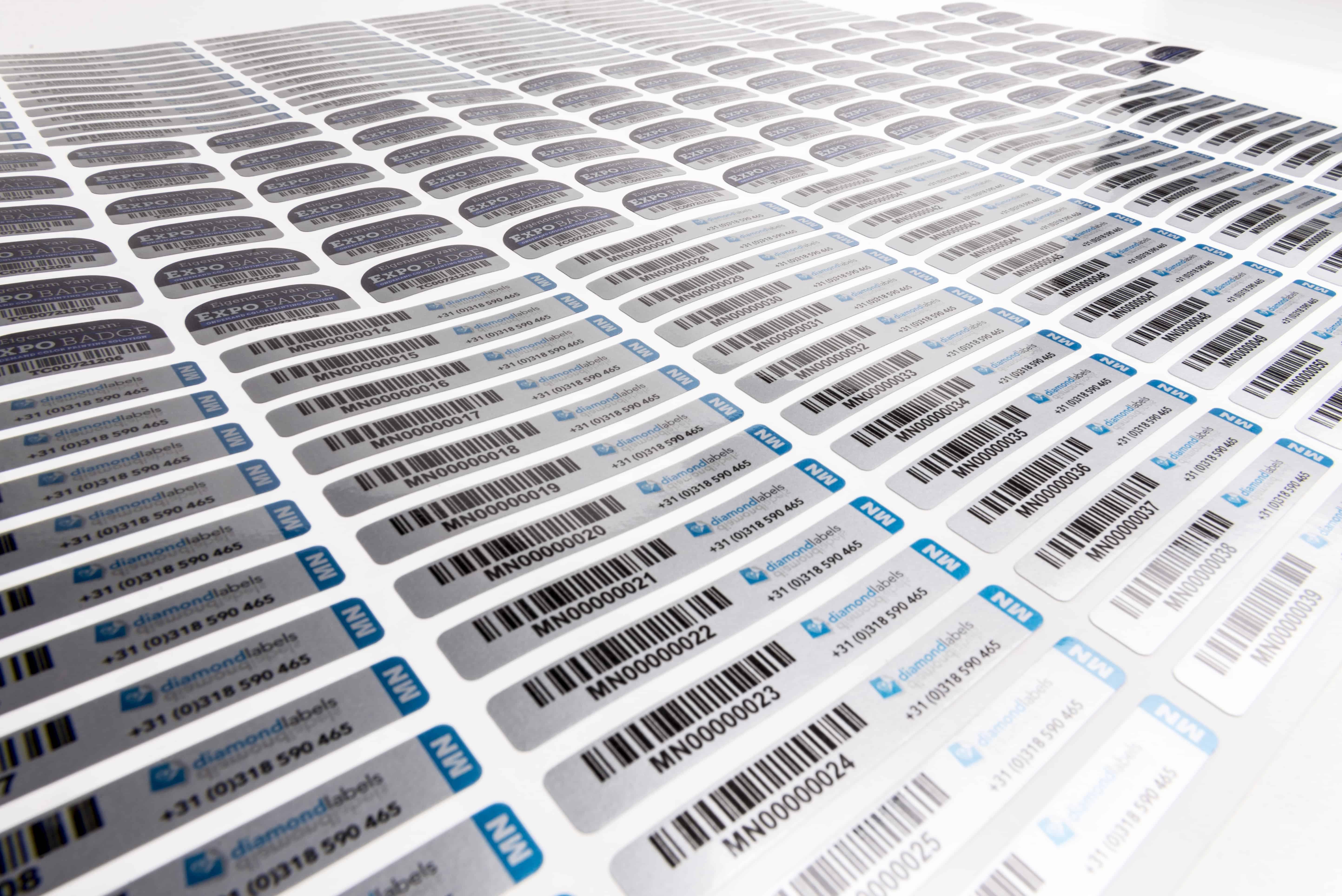 assettag voorbeelden lange labels